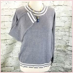 Sweaters - NWT Sweater Distressed SOFT Knit Light Gray  M  L